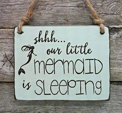 Shhh...Our Little Mermaid is Sleeping - Small Hanging Sign -
