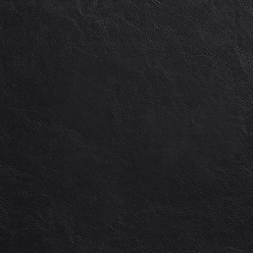 (G770 Black PVC Free Polyurethane Faux Leather Leatherette by The Yard)