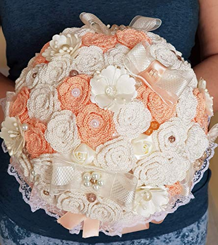 Torte Matrimonio Country Chic : Handmade brooch bridal bouquet shabby chic with artificial