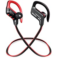 Bluetooth Wireless Sports Headphones Headset, LNGOOR In EAR Sweatproof Earbuds Earphones HD Stereo Bass for Gym Running Noise Isolating Mic - Black