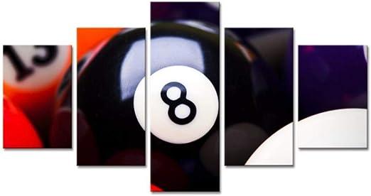 Billar tenis de mesa deportes entretenimiento cinco piezas de pintura Sala de estar en casa sala de billar bar fondo decoración pintura murales pintura mural,J, A: Amazon.es: Bricolaje y herramientas