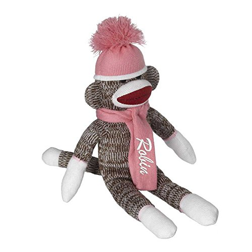 USA Personalized Sock Monkey Girls Embroidered Name Ideas for -