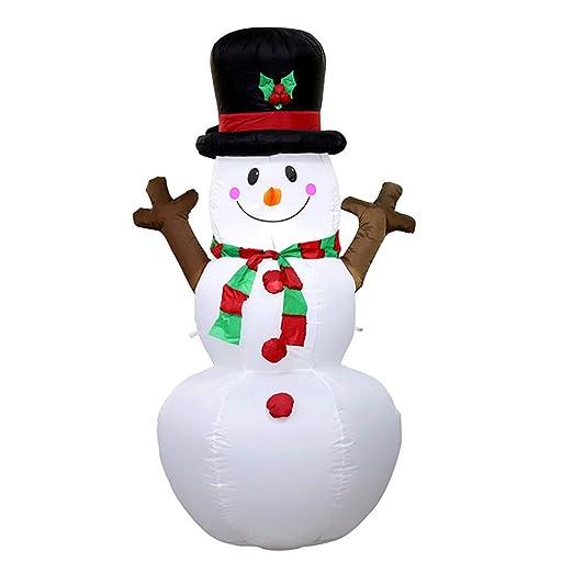 TAKEFUNS - Muñeco de Nieve Inflable de Navidad, Luces LED ...