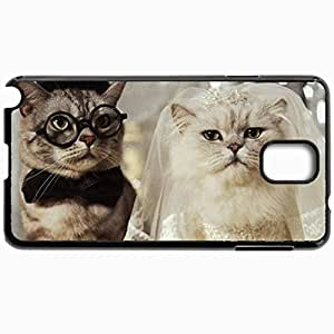 Customized Cellphone Case Back Cover For Samsung Galaxy Note 3, Protective Hardshell Case Personalized Funny Cats Black