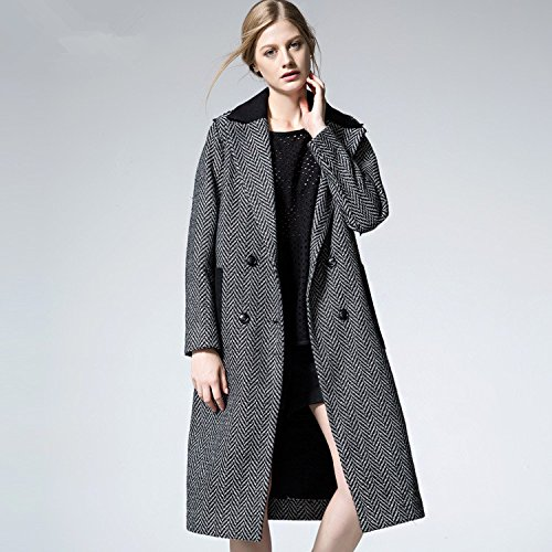 YLSZ-Women's dress coat coat girl autumn and winter new Europe and the loose long gray code,gray,L