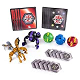 Bakugan 6054989 Battle 5-Pack, Darkus Cyndeous and Aurelus Trox, Collectible Cards and Figures, for Ages 6 and Up, Multicolour