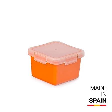 Valira Porta alimentos Contenedor hermético de 0,4 L hecho en España, color naranja