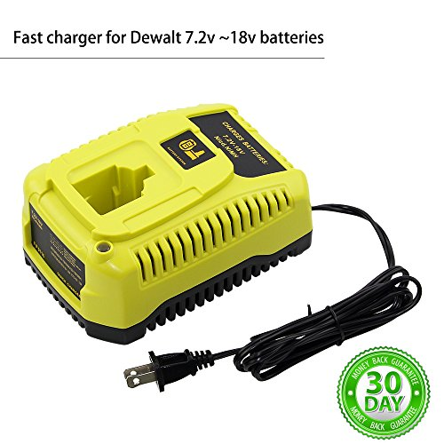 Replace for Dewalt 18v DC9310 Battery Charger 7.2-Volt to 18-Volt 2.6 Amp Fast Automotive Charge NiCd NiMh