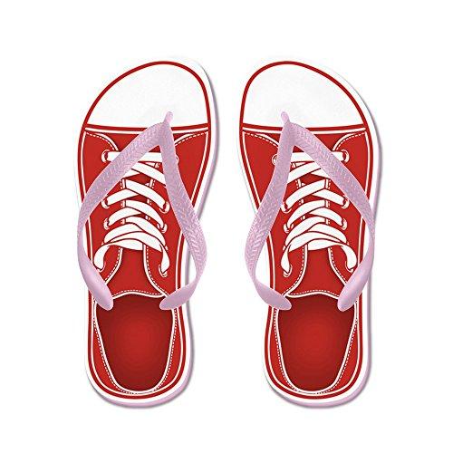 Sneaker Da Cafepress - Infradito, Sandali Infradito Divertenti, Sandali Da Spiaggia Rosa