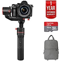 Feiyutech a1000 3-Axis Handheld Gimbal w/Slanted Back Motor SLR GO PACK With Fitted SLR Backpack, 32GB Sandisk Ultra Card and One Year Warranty Extension