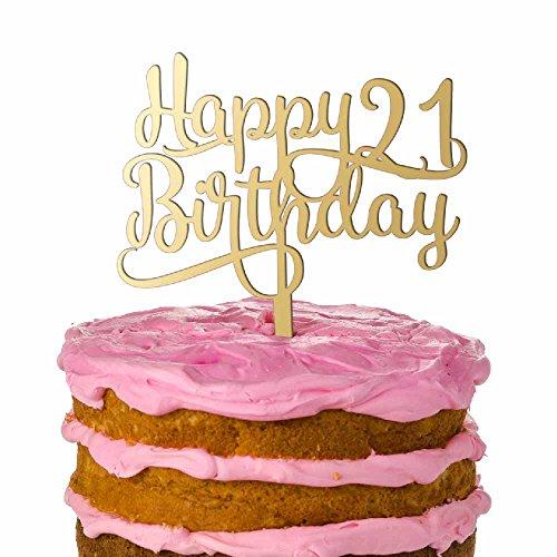 Happy 21st Birthday Personalized Wedding Cake Topper Last - Birthday Name Cake Toppers