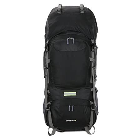 BaiYouDa 60L Hiking Backpack Waterproof Backpacking Pack for Climbing Trekking Mountaineering for Outdoor