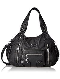 Hynes Victory Multi Front Pockets Shoulder Bags(Black)