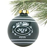 New York Jets 2011 Snowflake Glass Ball Ornament