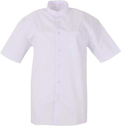 MISEMIYA - Camisa Uniforme Camarero Hombre Cuello Mao Mangas Cortas MESERO DEPENDIENTE Barman COCTELERO PROMOTRORES - Ref.827B: Amazon.es: Ropa y accesorios