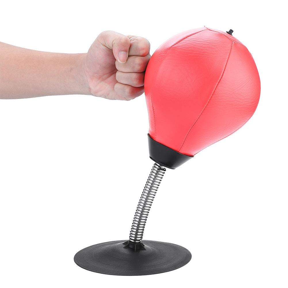 Boxing Bag Stress Anxiety Relief Freestanding Desktop Speed Punching Ball Adult Children(Red) Alomejor