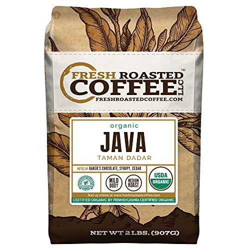 Java Taman Dadar Organic Coffee, Whole Bean, Fresh Roasted Coffee LLC. (2 lb.)
