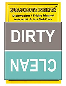 Guajolote Prints Clean Dirty Dishwasher Magnet (Turquoise)