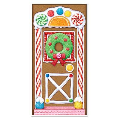 Gingerbread Door - Colorful GINGERBREAD HOUSE - CHRISTMAS Door