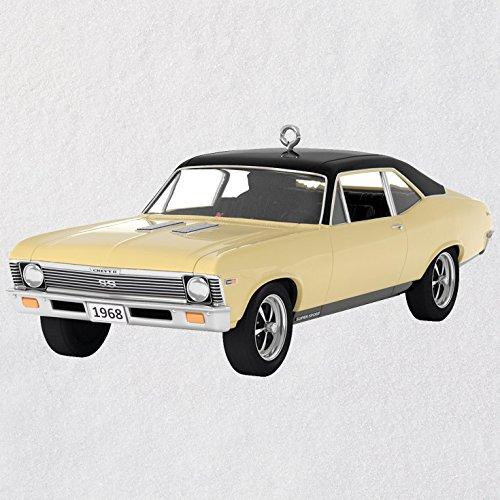 Hallmark Christmas Ornament Keepsake 2018 Year Dated, Classic American Cars 1968 SS, Metal, Chevrolet Nova