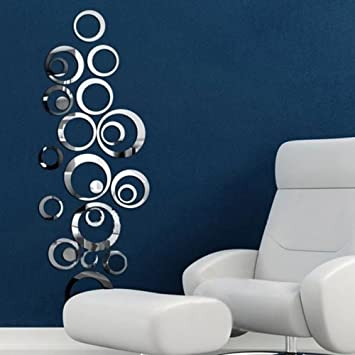 Mirrors Wall Stickers Mirror Wall Stickers Decorative Wall Stickers Vinyl  Material Removable Home Decoration Wall Decal