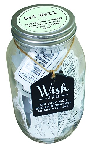 Top Shelf Get Well Wish Jar ; Unique and Thoughtful Gifts for Friends and Family ; Kit Comes with 100 Tickets and Decorative -