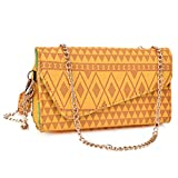 NuVur Universal Geometeric Tribal Print Wallet Clutch Fits HTC Butterfly 3/Desire 620,626/s, 626G+|Yellow Review
