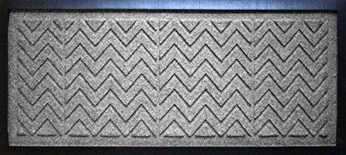 AquaShield Chevron Boot Tray Mat, 15'' x 36'', Medium Grey by AquaShield
