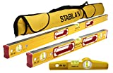 Stabila Classic 196 3 Level Set Includes 48''/24''/25100 Torpedo and 30015 Case
