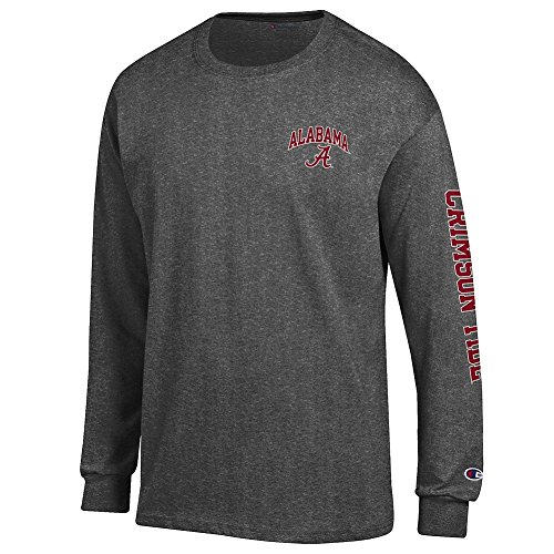 Alabama Crimson Tide Long Sleeve TShirt Charcoal Letterman - XL