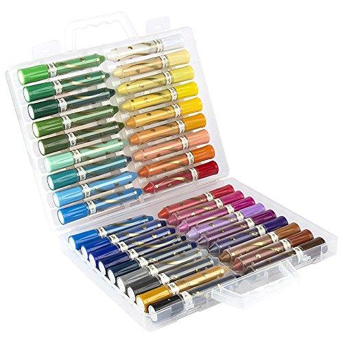 36 Crayons de Couleur en Cire, Peindre à l'Aquarelle, Hydrosoluble | ultra doux, onctueux et haut pigmenté | pour user sèche et humide | Mixed Media conception sur papier, carton, toile, bois