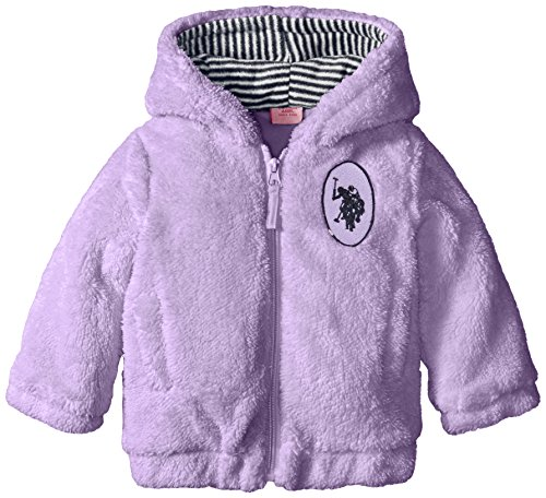U.S. Polo Assn. Baby Girls' Fleece Plush Jacket
