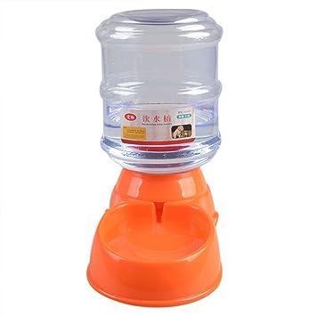 zolimx 3.5L Fuente de Agua Potable Gatos Bebedero para Mascotas y Perros Naranja: Amazon.es: Productos para mascotas
