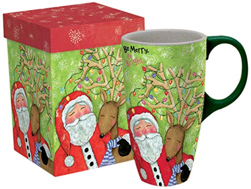 Lang Be Merry Be Bright Latte Mug by Wendy Bentley (5036265)