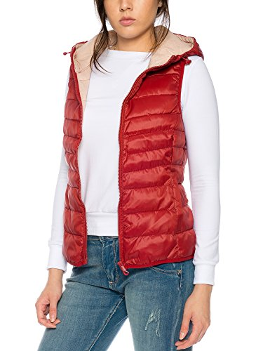 Only Onltahoe Aw Quilted Waistcoat Cc Otw, Chaleco para Mujer Rojo