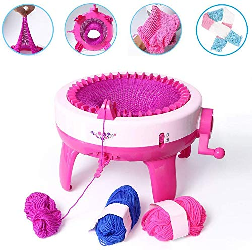 huanqiu-01 Knitting Machine Kit Needles Knitting Machine Weaving Loom Kit for Adults/Kids?Weaving Cute and Beautiful Clothes, A Must-Have for The Family