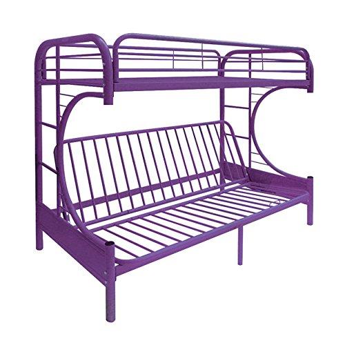 Eclipse Twin Over Full Futon Bunk Bed Purple  Mattress & Ful
