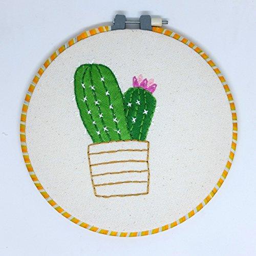 Embroidery Hoop Art Kit Handmade Cross Stitch Art Craft Sewing (Cactus Pattern) from Matamade