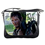 Daryl Dixon Norman Reedus Crossbow The Walking Dead Photo Music Band Concert Tour Messenger Bag School Textbook Macbook Ipad Laptop Computer Sling Cross Body Bags #3