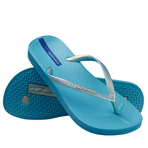 Playa para Zapatos Hotmarzz Flip Mujer Azul Piscina Flops Verano Slim Sandalias Chanclas 8S5ZwqO