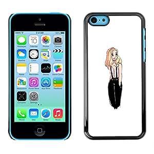 "For Apple iPhone 5C Case , De diseño de moda Rubio polluelo Mujer Blanca"" - Diseño Patrón Teléfono Caso Cubierta Case Bumper Duro Protección Case Cover Funda"