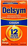 Delsym Adult Cough Suppressant Liquid, Orange Flavor, 5 Ounce (Pack of 10)