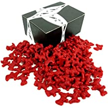 Gimbal's Red Licorice Scottie Dogs, 2 lb Bag in a BlackTie Box