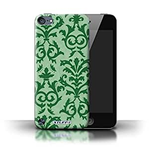 KOBALT? Protective Hard Back Phone Case / Cover for Apple iPod Touch 5 | Green Design | Scroll Pattern Collection by lolosakes