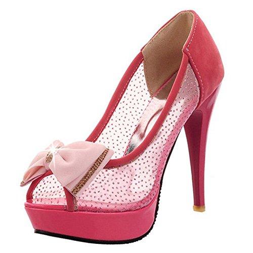 Peep Chaussures Red Toe Femmes Sandales RAZAMAZA Bow B7qzPnw