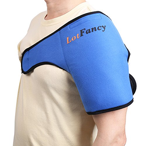 Price comparison product image Shoulder Ice Pack Wrap by LotFancy - Ideal Hot Cold Therapy for Injuries/Sprains Sore /Muscle and Joint Pain, FDA Approved (Medium 8.8 x 5 inches)