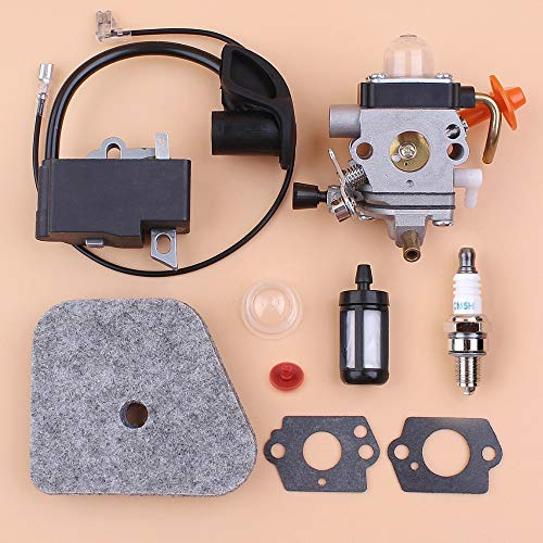 HUNACA Grass Trimmer | Carburetor Ignition Coil Air Filter Kit for STIHL FS87 FS90 FS100 HL100 HL95 KM90 HT100 KM100 KM130 String Trimmer Repair Spares