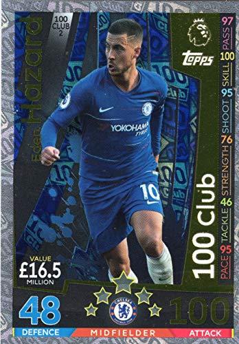 (Match ATTAX Extra 18/19 Eden Hazard 100 Club Trading Card - Chelsea)