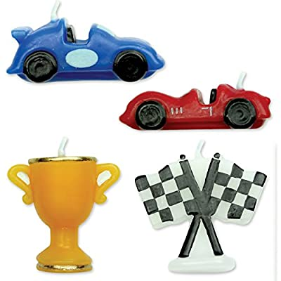 PME 4 Set RACING CARS Candles Birthday Boys Party Cake Decorating: Home Improvement