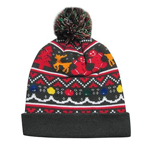waotier Sombrero de Navidad Colorful Merry Christmas LED ...